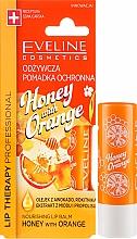 "Voňavky, Parfémy, kozmetika Balzam na pery ""Med a pomaranč"" - Eveline Cosmetics Lip Therapy Nourishing Lip Balm Honey And Orange"