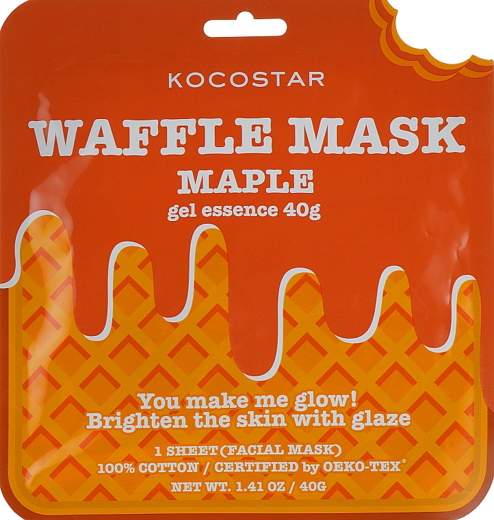 "Omladzujúca vaflová maska ""Javorový sirup"" - Kocostar Maple Waffle Mask"