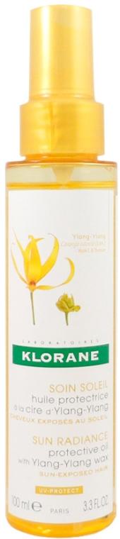 Ochranný olej na vlasy - Klorane Sun Radiance Protective Oil with Ylang-Ylang Wax — Obrázky N1