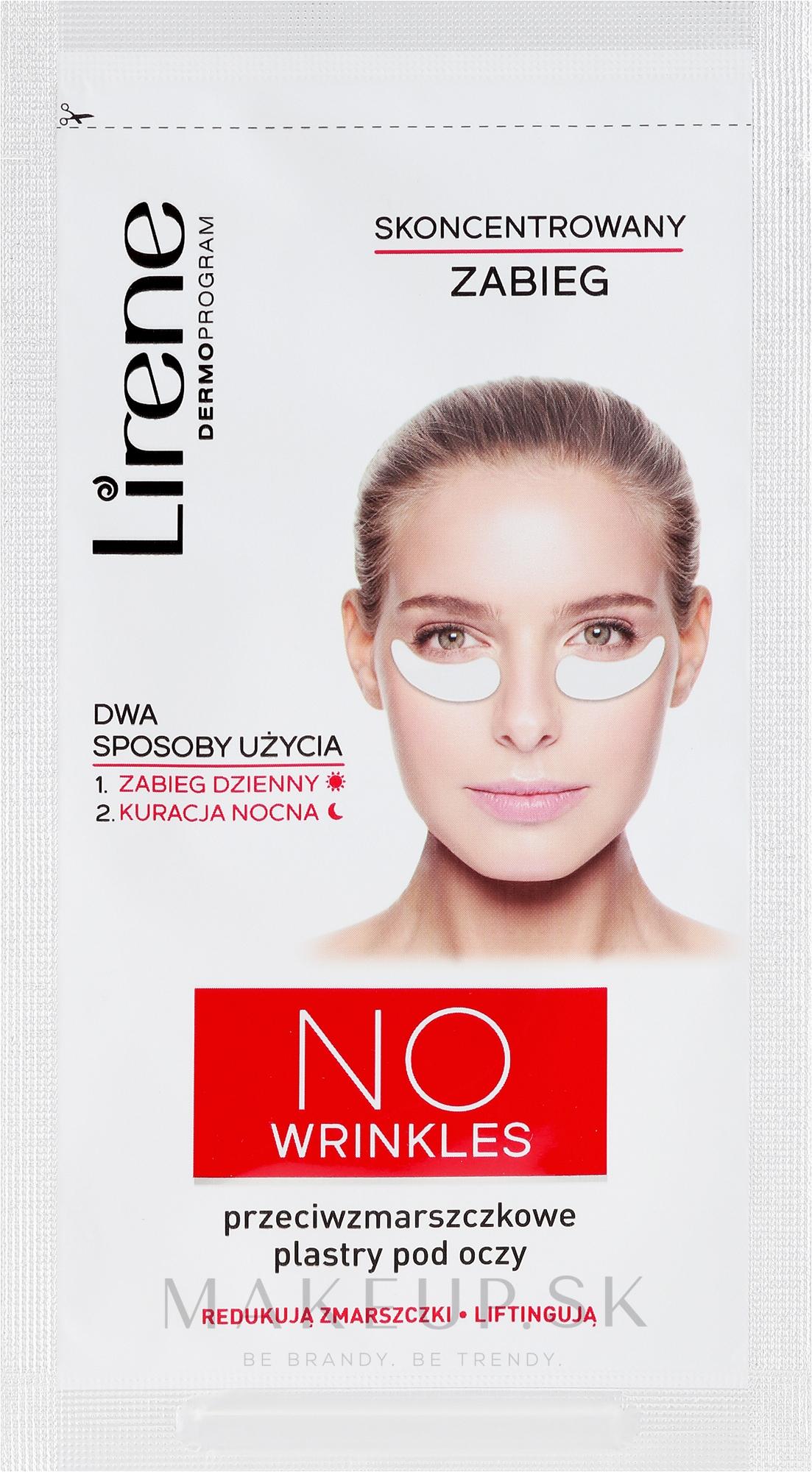 Náplasti pod oči proti vráskam - Lirene Dermo Program No Wrinkles — Obrázky 2 ks.
