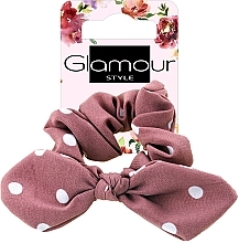 Voňavky, Parfémy, kozmetika Gumička do vlasov, 417611, tmavoružová bodkovaná - Glamour