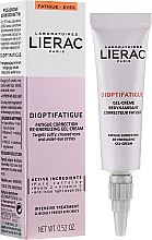 Voňavky, Parfémy, kozmetika Energetický gélový krém na pokožku okolo očí proti príznakov únavy - Lierac Dioptifatigue Fatigue Correction Re-Energizing Gel-Cream