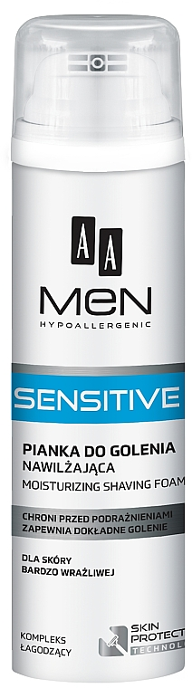 Pena na holenie - AA Men Sensitive Moisturizing Shaving Foam