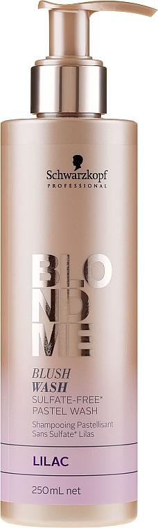 """Bezsulfátový hydratačný šampon """"Orgován"""" - Schwarzkopf Professional Blond Me Blush Wash Lilac"""