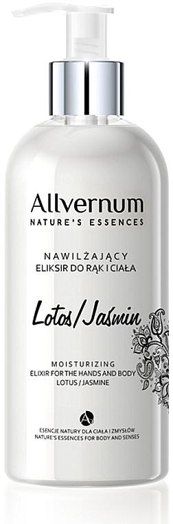 "Elixír na ruky a telo ""Lotus a jasmín"" - Allverne Nature's Essences Elixir for Hands and Body"