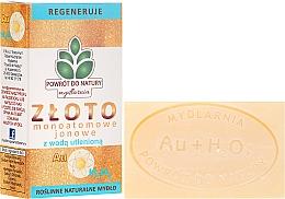 "Voňavky, Parfémy, kozmetika Prírodné mydlo ""Matné zlato a peroxid vodíka"" - Powrot do Natury Natural Soap Matt Gold and Hydrogen Peroxide"