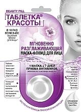 """Voňavky, Parfémy, kozmetika Fluidná maska na tvár """"Beauty tabletka. Okamžite vyhladenie"""" - Fito Kosmetik Beauty Pill"""