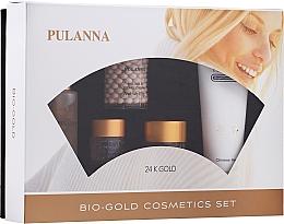 Voňavky, Parfémy, kozmetika Sada - Pulanna Bio-Gold (eye/gel/21g + f/cr/2x60g + f/ton/60g + cl/milk/90g)