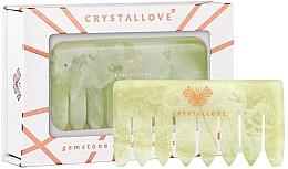 Voňavky, Parfémy, kozmetika Hrebeň na masáž hlavy, nefritový - Crystallove