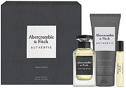 Voňavky, Parfémy, kozmetika Abercrombie & Fitch Authentic Men - Sada (edt/100ml + edt/15ml + sh/gel/200ml)