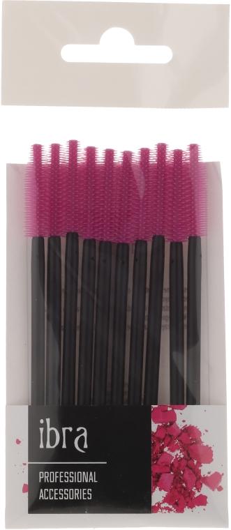 Štetce na obočie a mihalnice 10ks, fialové - Ibra