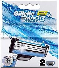 Voňavky, Parfémy, kozmetika Náhradné holiace kazety, 2ks - Gillette Mach3 Start
