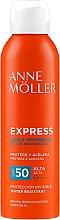 Voňavky, Parfémy, kozmetika Sprej na urýchlenie opaľovania - Anne Moller Express Bruma Body Tanning Spray SPF50