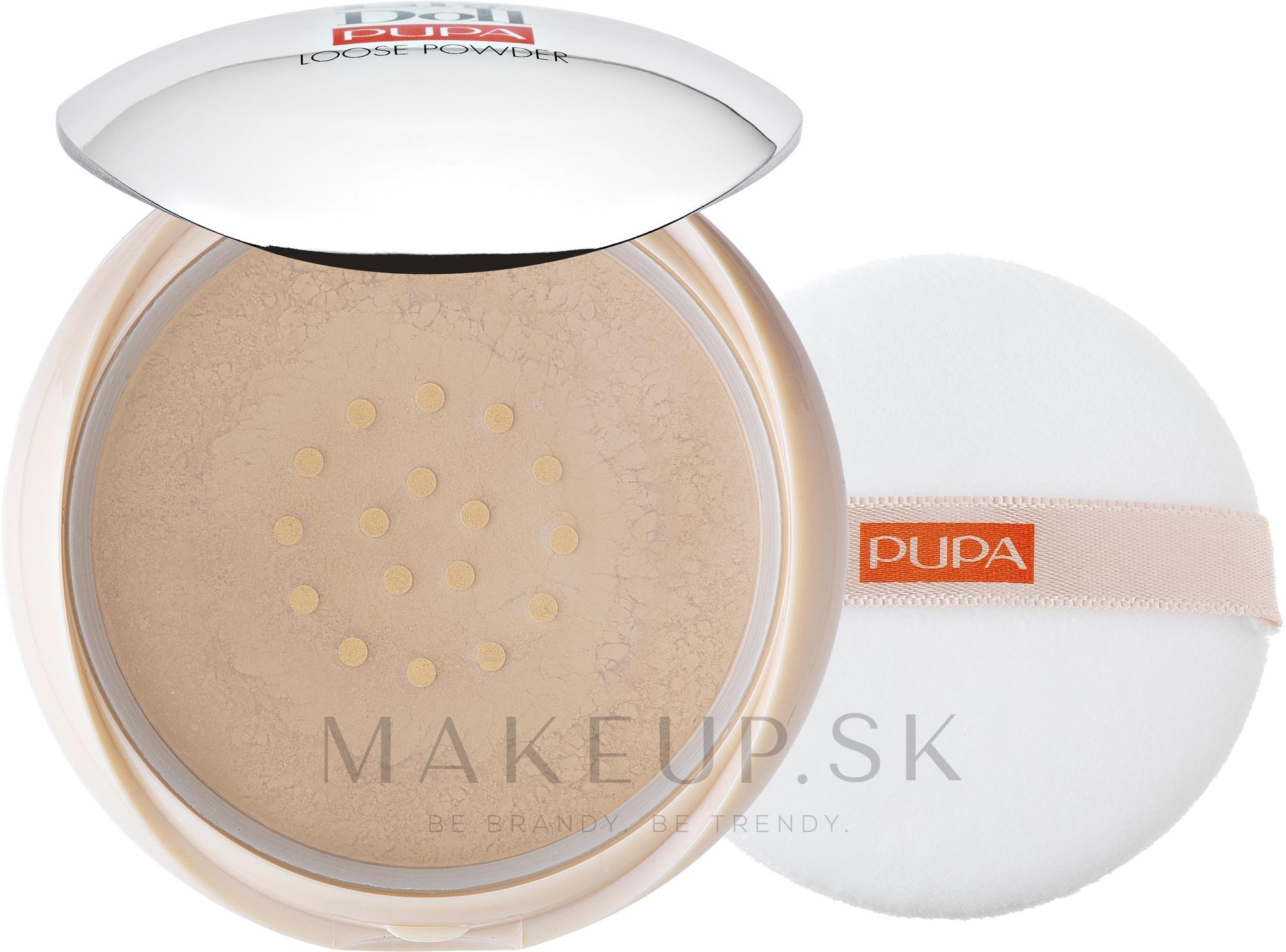 Sypký prášok pre tvár - Pupa Like a Doll Loose Powder — Obrázky 001 - Light Beige