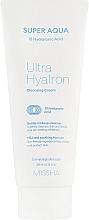 Voňavky, Parfémy, kozmetika Čistiaci krém na tvár s kyselinou hyalurónovou - Missha Super Aqua Ultra Hyalron Cleansing Cream