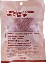 Voňavky, Parfémy, kozmetika Špongia Konjak so sopečným popolom - Purito Jeju Volcanic Scoria Konjac Sponge