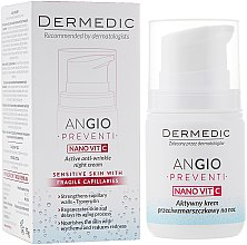 Voňavky, Parfémy, kozmetika Aktívny nočný krém proti vráskam liečba pre pleť so sklonom k začervenaniu - Dermedic Angio Preventi Active Anti-Wrinkle Night