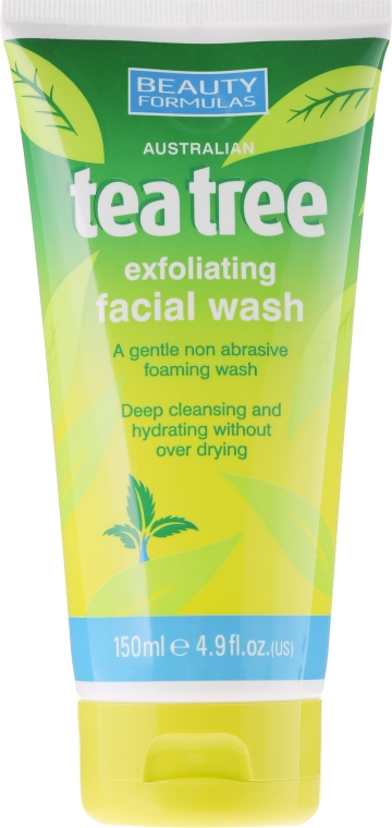 "Gél na umývanie ""Tea Tree"" - Beauty Formulas Tea Tree Exfoliating Facial Wash"