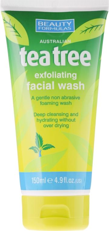 "Gél na umývanie ""Tea Tree"" - Beauty Formulas Tea Tree Exfoliating Facial Wash"