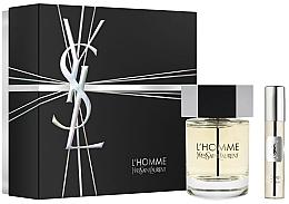 Voňavky, Parfémy, kozmetika Yves Saint Laurent L'Homme - Sada (edt/100ml + edt/mini/10ml)