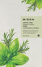 Voňavky, Parfémy, kozmetika Látková maska bylinná - Mizon Joyful Time Essence Mask Herb