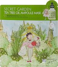 Voňavky, Parfémy, kozmetika Dvojfázová látková maska na tvár s čajovníkom - Sally's Box Secret Garden Tea Tree Oil Ampoule Mask