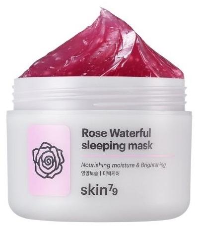 Relaxačná nočná maska na tvár - Skin79 Rose Waterfull Mask