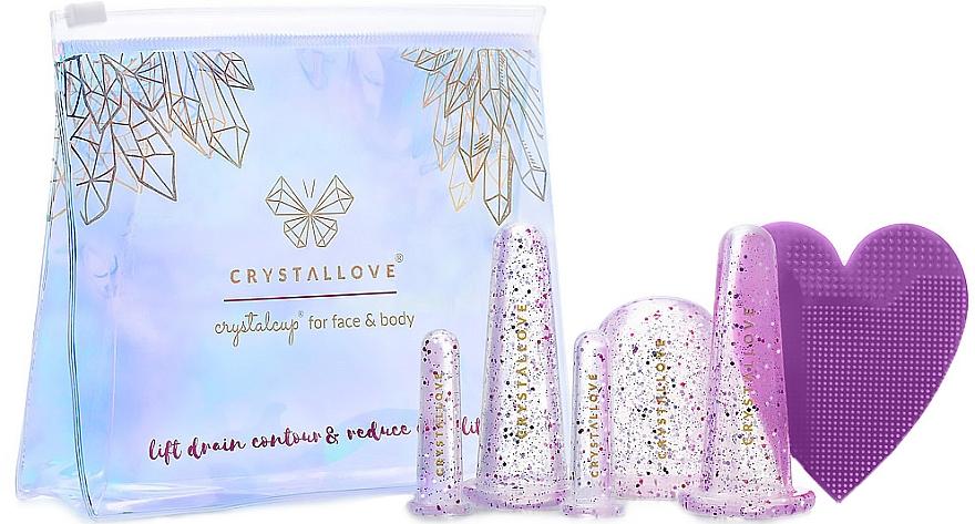 Silikónové masážne banky na tvár a telo - Crystallove Crystalcup For Face & Body