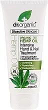 """Voňavky, Parfémy, kozmetika Krém na ruky a nechty """"Konopný olej"""" - Dr. Organic Hemp Oil Intensive Hand & Nail Treatment"""
