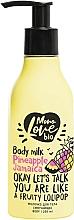 """Voňavky, Parfémy, kozmetika Zjemňujúce mlieko na telo """"Ananás"""" - MonoLove Bio Pineapple Jamaica Body Milk"""