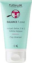 Voňavky, Parfémy, kozmetika Čistiaca hlinka na tvár - Floslek Balance T-zone Instant Detox 2in1 Clay Cleanser