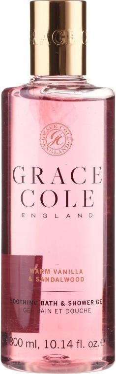 """Sprchová gélová pena """"Vanilla a santalové drevo"""" - Grace Cole Warm Vanilla & Sandalwood Soothing Bath & Shower Gel"""