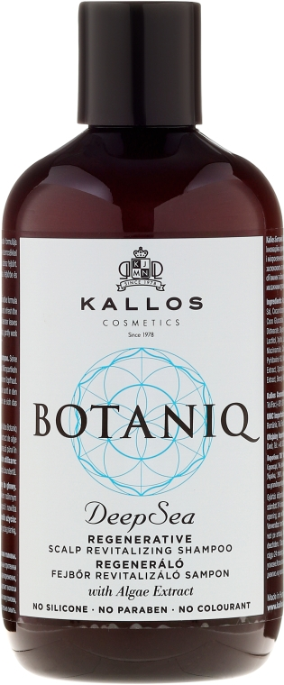 Šampón na obnovenie vlasov a výživy pokožky hlavy - Kallos Cosmetics Botaniq Deep Sea Shampoo