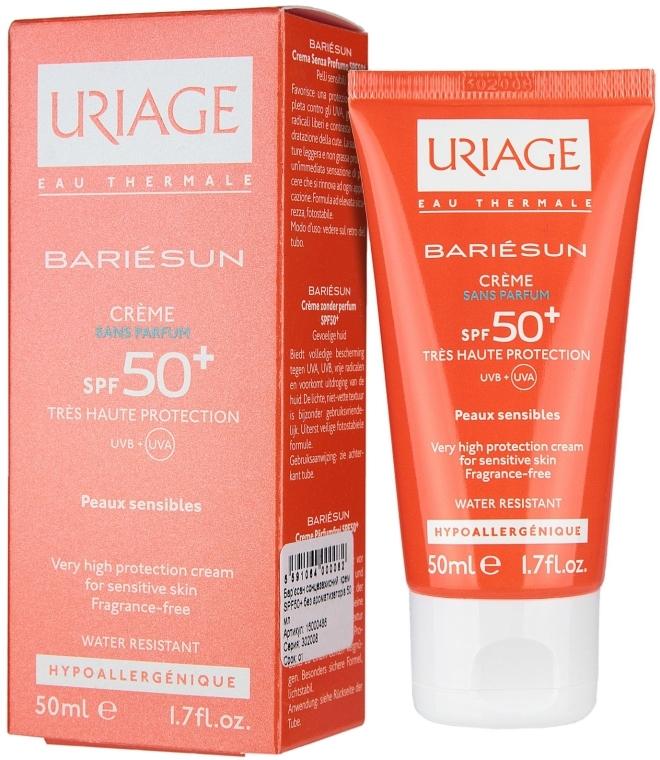 Bariésun krém na ochranu pred slnkom SPF50+ bez aromatických látok - Uriage Suncare product — Obrázky N1