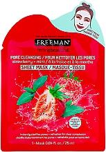 "Voňavky, Parfémy, kozmetika Čistiaca textilná maska na tvár ""Jahoda a mäta"" - Freeman Feel Beautiful Pore Cleansing Sheet Mask"