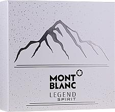 Voňavky, Parfémy, kozmetika Montblanc Legend Spirit - Sada (edt/100ml + ash/balm/100ml + sh/gel/100ml)