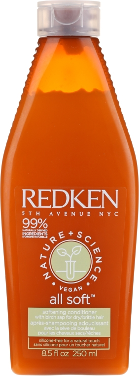 Zmäkčujúci vlasový kondicionér - Redken Nature + Science All Soft Softening Conditioner — Obrázky N1