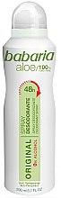 Voňavky, Parfémy, kozmetika Dezodorant - Babaria Aloe Vera Original Alcohol-Free Deodorant Spray