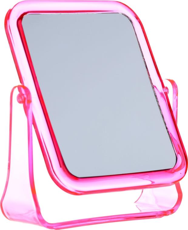 Štvorcové kozmetické zrkadlo, 5282, ružové - Top Choice