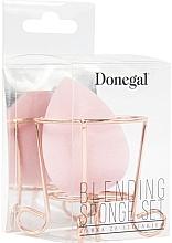 Voňavky, Parfémy, kozmetika Hubka na make-up s košíkom, ružová - Donegal