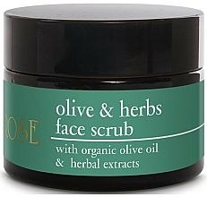 Voňavky, Parfémy, kozmetika Scrub na tvár s olivovým olejom a bylinnými extraktmi - Yellow Rose Olive & Herbs Face Scrub