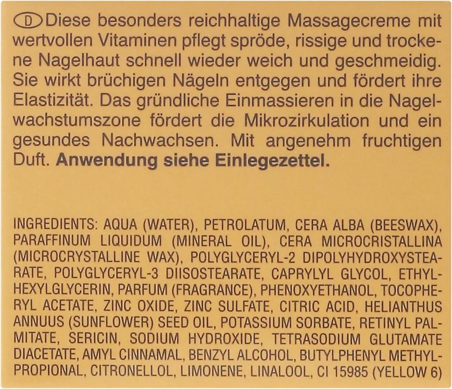 Masážny krém pre krehkú, popraskanú a suchú pokožku - Artdeco Nail Massage Cream — Obrázky N3