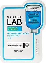 Voňavky, Parfémy, kozmetika Látková maska na tvár s kyselinou hyalurónovou - Tony Moly Master Lab Hyaluronic Acid Mask