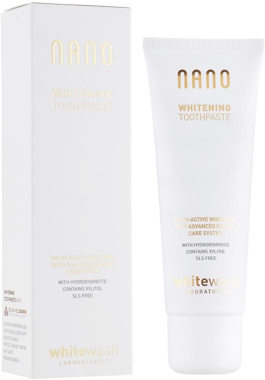 "Zubná pasta ""Bielenie + remineralizácia s hydroxyapatitom"" - WhiteWash Laboratories Nano Whitening Toothpaste"