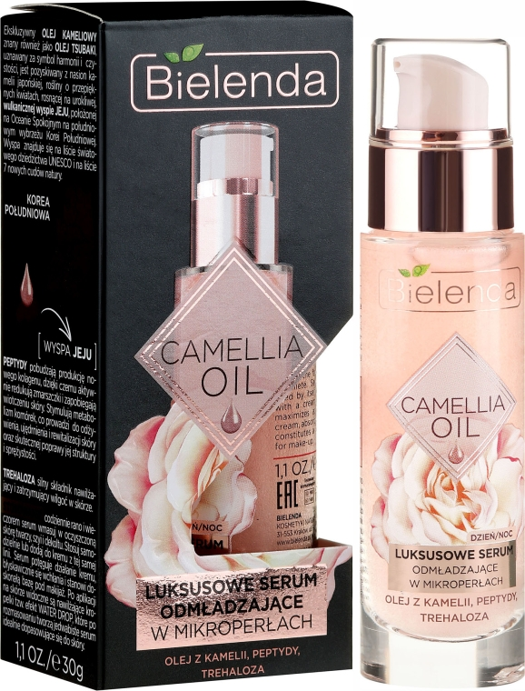 Omladzujúce sérum na tvár - Bielenda Camellia Oil Luxurious Rejuvenating Serum