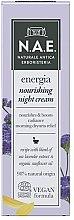 Voňavky, Parfémy, kozmetika Nočný krém na tvár - N.A.E. Energia Nourishing Night Cream