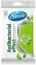 Voňavky, Parfémy, kozmetika Vlhčené obrúsky s vitamínmi, 15 ks - Smile Ukraine Antibacterial