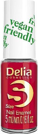 Lak na nechty - Delia Cosmetics S-Size Vegan Friendly Nail Enamel