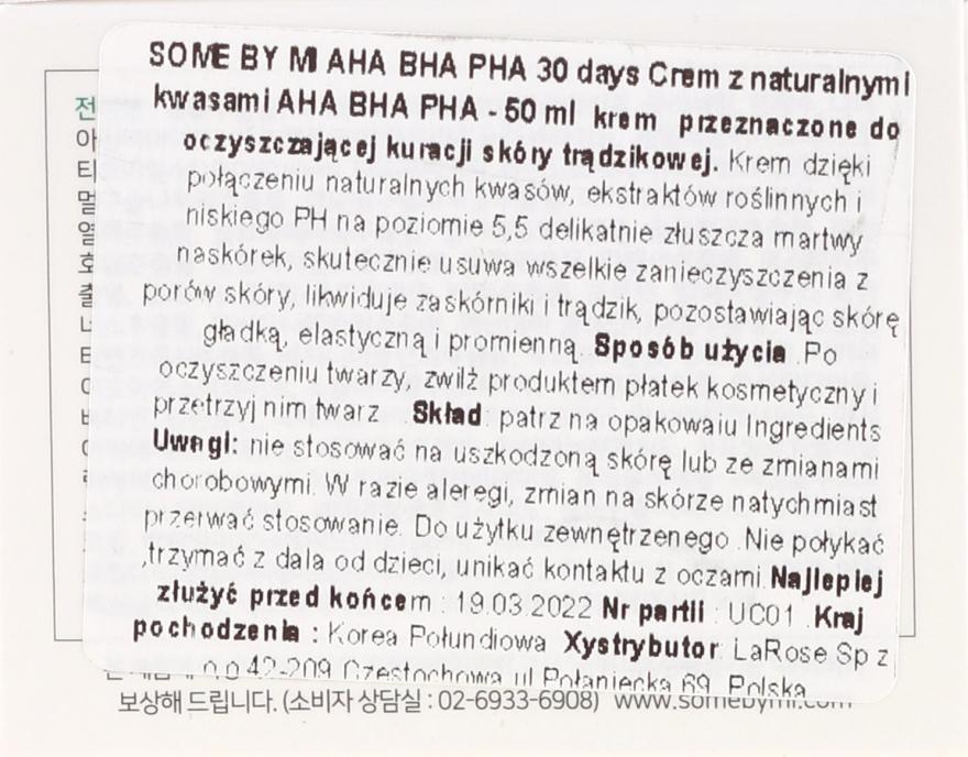 Krém na tvár - Some By Mi AHA/BHA/PHA 30 Days Miracle Cream — Obrázky N3