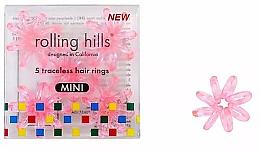 Voňavky, Parfémy, kozmetika Gumička-náramok do vlasov, mini, priehľadno-ružová - Rolling Hills 5 Traceless Hair Rings Mini Transparent Pink